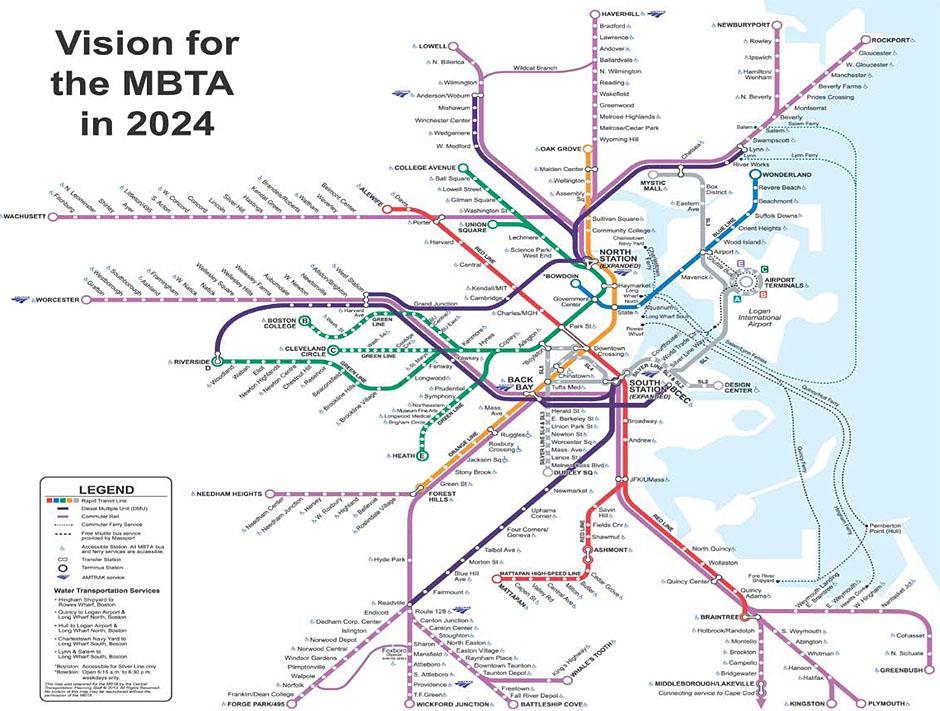 2024 MBTA map
