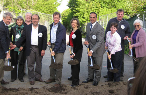 Community Path groundbreaking