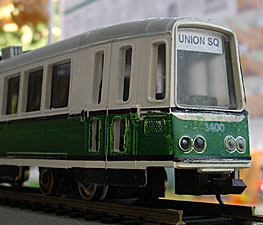 Union Square Green Line car