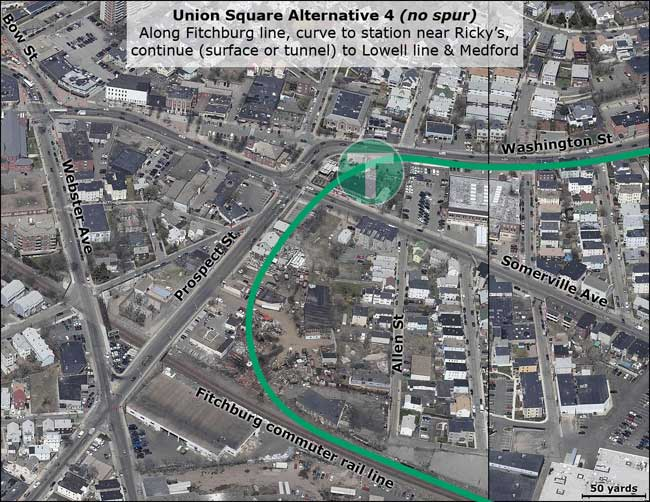 Union Square Green Line map